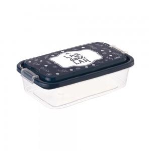 Imagem do produto - Pote de Plástico Retangular 520 ml com Travas Clic e Trave Fazenda