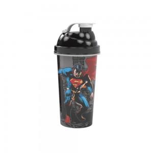 Imagem do produto - Shakeira de Plástico 580 ml com Tampa Rosca e Misturador Superman