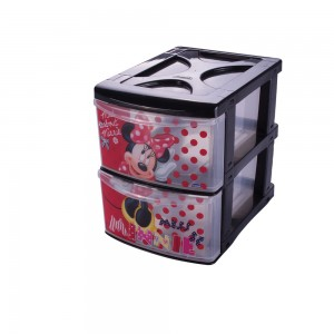 Imagem do produto - Gaveteiro de Plástico com 2 Gavetas Minnie
