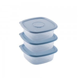 Imagem do produto - Conjunto de Potes de Plástico Quadrados 1 L Pop 3 Unidades