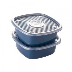 Imagem do produto - Conjunto de Potes de Plástico Quadrados 2 L Pop 2 Unidades