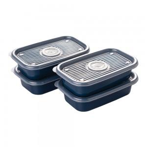 Imagem do produto - Conjunto de Potes de Plástico Retangulares 520 ml Pop 4 Unidades