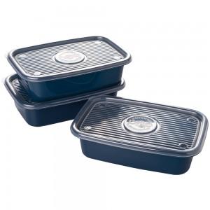 Imagem do produto - Conjunto de Potes de Plástico Retangulares 1,2 L Pop 3 Unidades