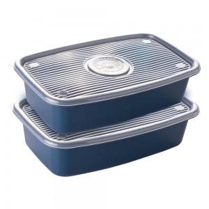 Imagem do produto - Conjunto de Potes de Plástico Retangulares 2,7 L Pop 2 Unidades