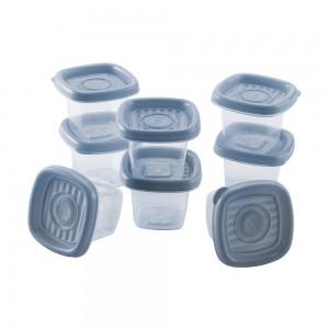 Imagem do produto - Conjunto de Potes de Plástico Quadrados 70 ml Pop 8 Unidades