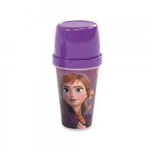 Imagem do produto - Mini Shakeira de Plástico 320 ml com Misturador, Fechamento Rosca e Sobretampa Articulável Frozen Anna