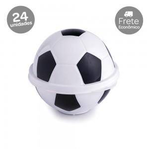 Imagem do produto - Conjunto de Potes de Plástico com Tampa Fixa em Formato de Bola de Futebol 24 Unidades