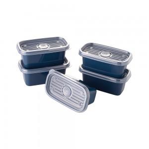 Imagem do produto - Conjunto de Potes de Plástico Retangulares 150 ml Pop 5 Unidades