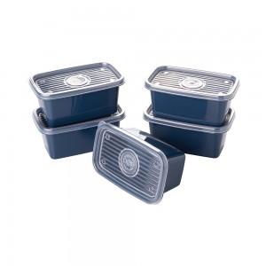 Imagem do produto - Conjunto de Potes de Plástico Retangulares 380 ml Pop 5 Unidades
