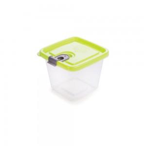Imagem do produto - Pote de Plástico Retangular 350 ml com Tampa Fixa e Trava Trio