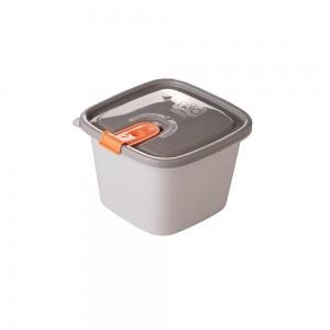 Imagem do produto - Pote de Plástico Retangular 800 ml com Tampa Fixa e Trava Trio