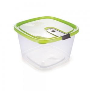 Imagem do produto - Pote de Plástico Retangular 1,5 L com Tampa Fixa e Trava Trio