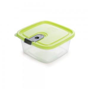 Imagem do produto - Pote de Plástico Retangular 510 ml com Tampa Fixa e Trava Trio