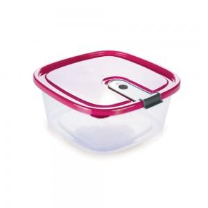Imagem do produto - Pote de Plástico Retangular 1 L com Tampa Fixa e Trava Trio