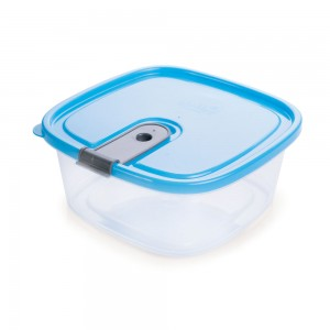Imagem do produto - Pote de Plástico Retangular 1,8 L com Tampa Fixa e Trava Trio