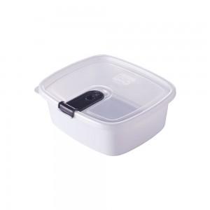 Imagem do produto - Pote de Plástico Retangular 750 ml com Tampa Fixa e Trava Trio