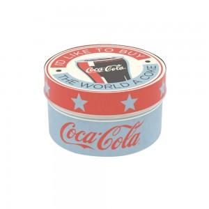 Imagem do produto - Caixa de Plástico Redonda 1,2 L com Tampa Encaixável Coca Cola