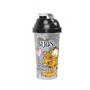 Imagem do produto - Shakeira de Plástico 580 ml com Tampa Rosca e Misturador Garfield