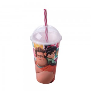 Imagem do produto - Copo Shake de Plástico 500 ml com Tampa e Canudo Detona Ralph