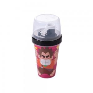 Imagem do produto - Mini Shakeira de Plastico 320 ml com Misturador, Fechamento Rosca e Sobretampa Articulável Detona Ralph