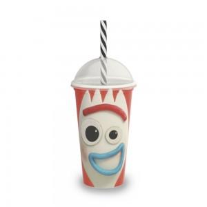Imagem do produto - Copo Shake de Plástico 500 ml com Tampa e Canudo Toy Story Forky