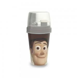 Imagem do produto - Mini Shakeira de Plástico 320 ml com Misturador, Fechamento Rosca e Sobretampa Articulável Toy Story Woody
