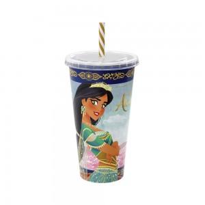 Imagem do produto - Copo Refrigerante de Plástico 700 ml com Tampa e Canudo Aladdin