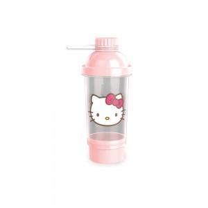 Imagem do produto - Shakeira de Plástico 580 ml com Tampa Rosca e Compartimento Hello Kitty