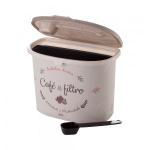 Imagem do produto - Pote de Plástico para Café com Colher, Porta Filtro, Trava e Tampa Fixa
