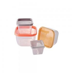 Imagem do produto - Conjunto de Potes de Plástico Quadrados Conect 4 Unidades