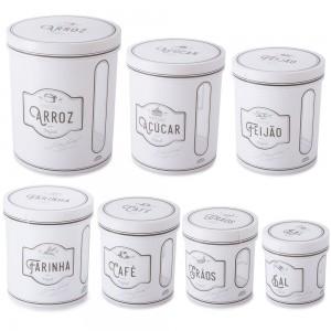 Imagem do produto - Conjunto de Caixas de Plástico Redondas para Mantimentos Edu 7 Unidades