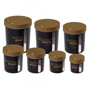 Imagem do produto - Conjunto de Porta Mantimentos Redondos Rosca 7 Unidades Glamour