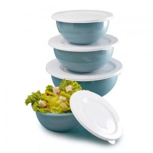 Imagem do produto - Conjunto de Tigelas de Plástico com Tampa Edu Guedes 4 Unidades