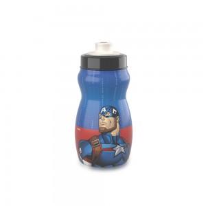 Imagem do produto - Garrafa Squeeze de Plástico 300 ml com Tampa Rosca Avengers Capitão América