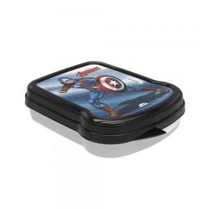 Imagem do produto - Sanduicheira de Plástico com Tampa Fixa Avengers Capitão América