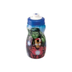 Imagem do produto - Garrafa Squeeze de Plástico 300 ml com Tampa Rosca Avengers