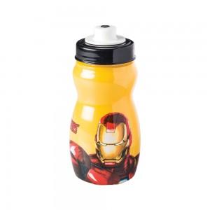 Imagem do produto - Garrafa Squeeze de Plástico 300 ml com Tampa Rosca Avengers Homem de Ferro