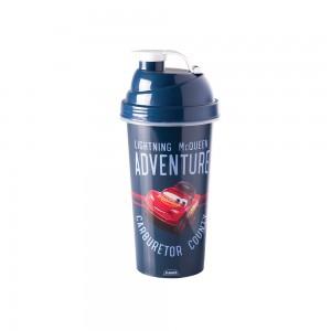 Imagem do produto - Shakeira de Plástico 580 ml com Tampa Rosca e Misturador Carros