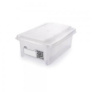 Imagem do produto - Caixa de Plástico Retangular Organizadora 1,2 L com Tampa Empilhável Mini