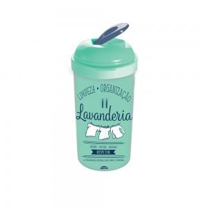 Imagem do produto - Porta Sabão em Pó de Plástico com Tampa Rosqueável  Lettering