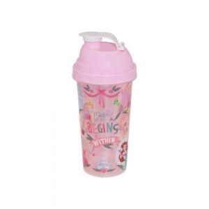 Imagem do produto - Shakeira de Plástico 580 ml com Tampa Rosca e Misturador Princesas