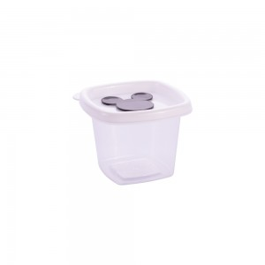 Imagem do produto - Pote de Plástico Quadrado 170 ml com Válvula Clic Mickey