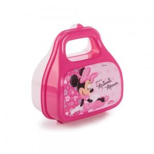 Imagem do produto - Pote de Plástico com Tampa Fixa em Formato de Bolsinha com Alça Minnie