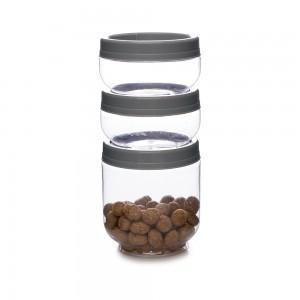 Imagem do produto - Conjunto Organizador de Plástico Gire e Trave 3 Unidades M