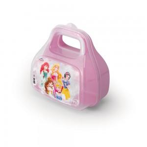 Imagem do produto - Pote de Plástico com Tampa Fixa em Formato de Bolsinha com Alça Princesas