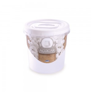 Imagem do produto - Pote de Plástico Redondo para Açucar Mantimentos 1,8 L Rosca