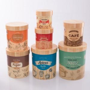 Imagem do produto - Conjunto de Caixas de Plástico Redondas para Mantimentos Retrô 7 Unidades