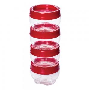 Imagem do produto - Conjunto Organizador de Plástico Gire e Trave 4 Unidades P