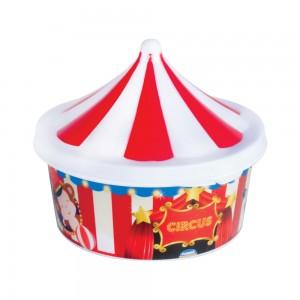 Imagem do produto - Pote de Plástico com Tampa Fixa em Formato de Circo