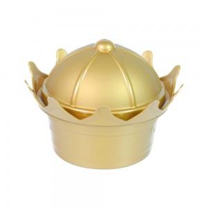 Imagem - Pote de Plástico com Tampa Fixa em Formato de Coroa 006506-1011 Dourado